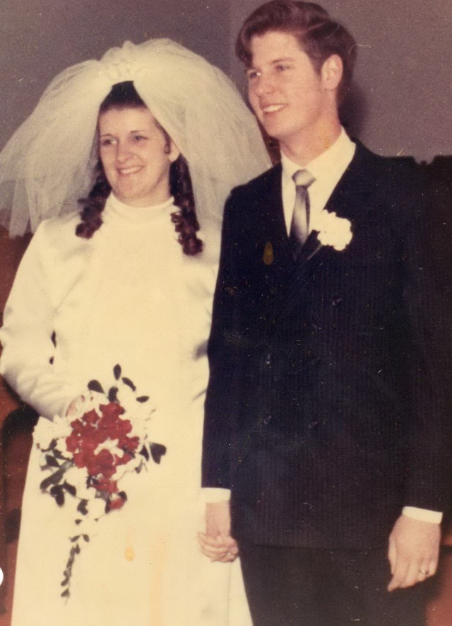 Valentine's Day wedding 1970