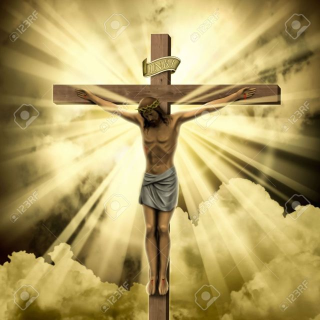 7124703-jesus-christ-on-the-cross-with-clouds