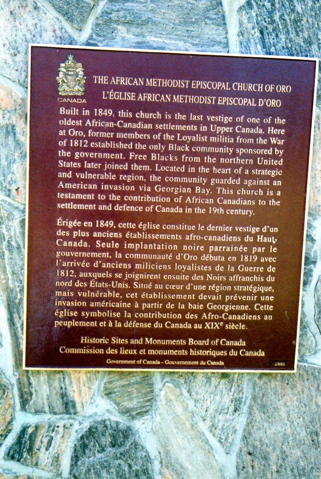 Historic Sites Plaque