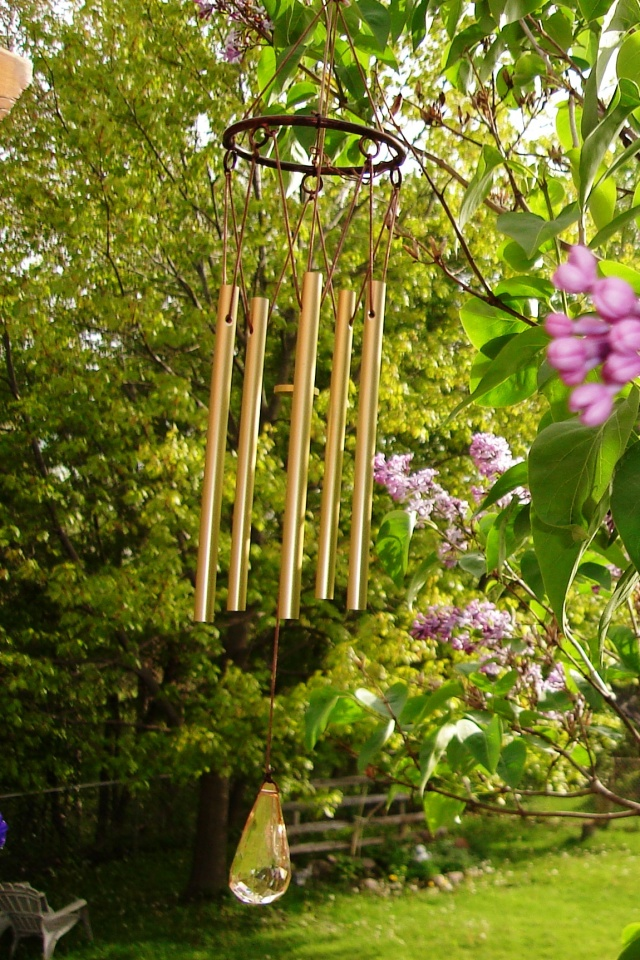 Wind Chimes and Lilacs