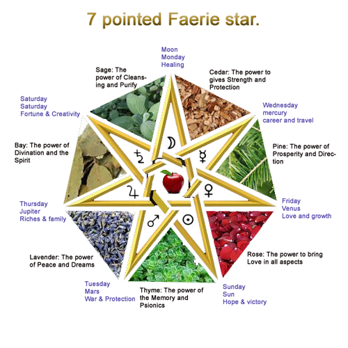 7 pointed faerie star