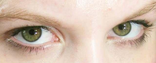 Green eyed gaze