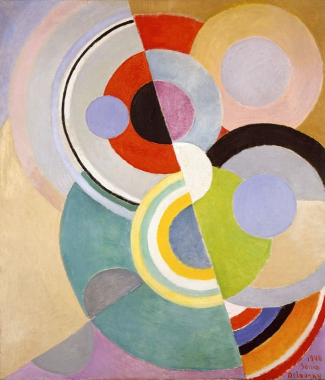 Rythme Colore 1946-robert-delaunay-oil-on-canvas