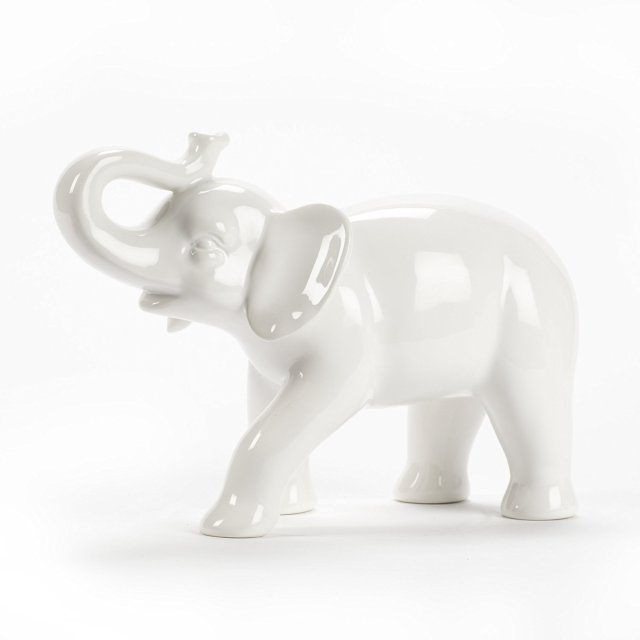 Ceramic white elephant