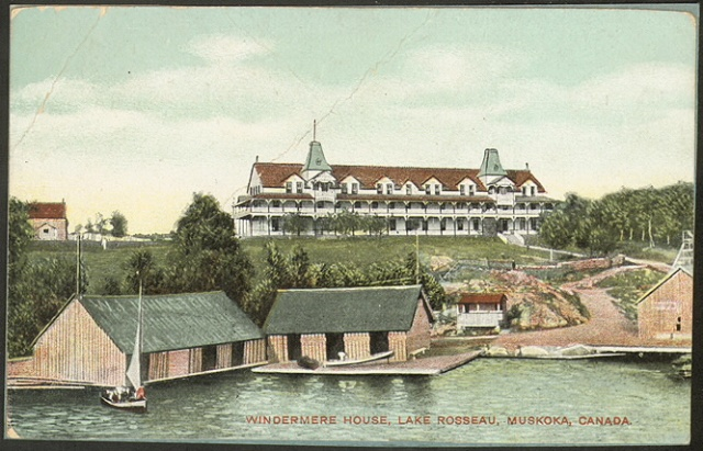 Windermere House postcard