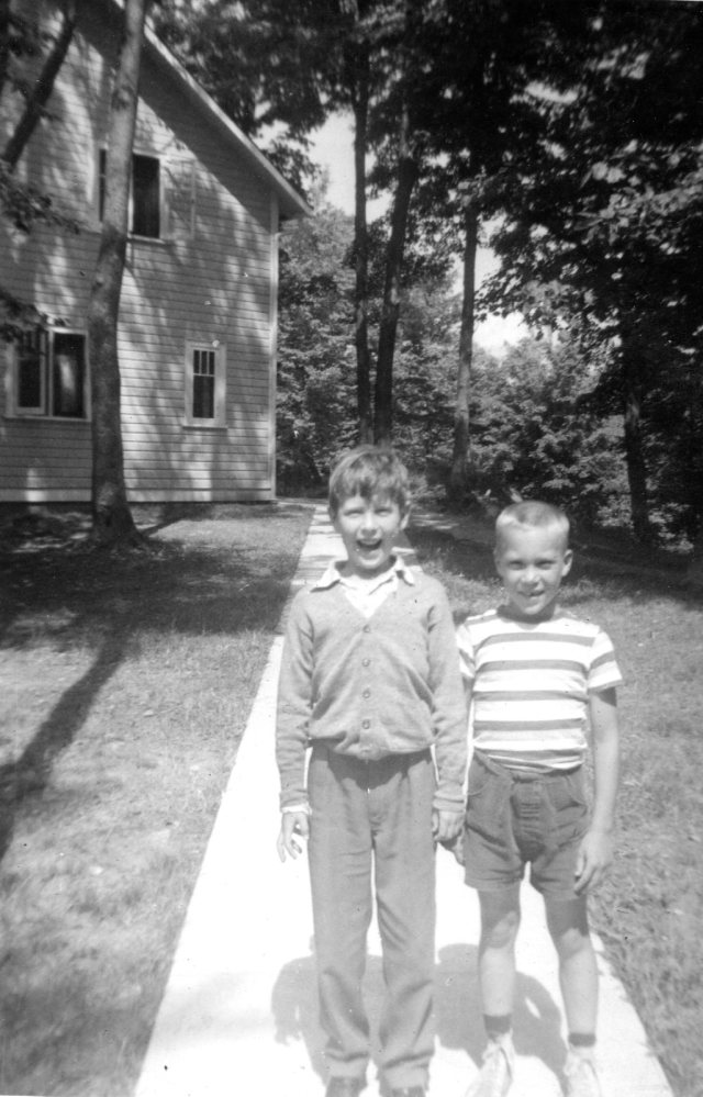 Chris & friend CKC Aug 1958