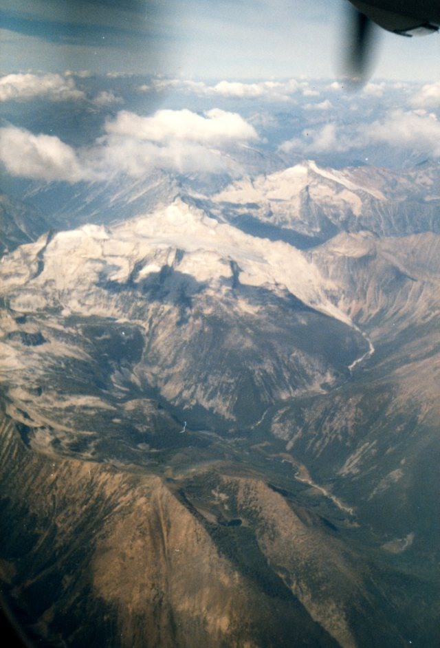 The Rockies from an airplane