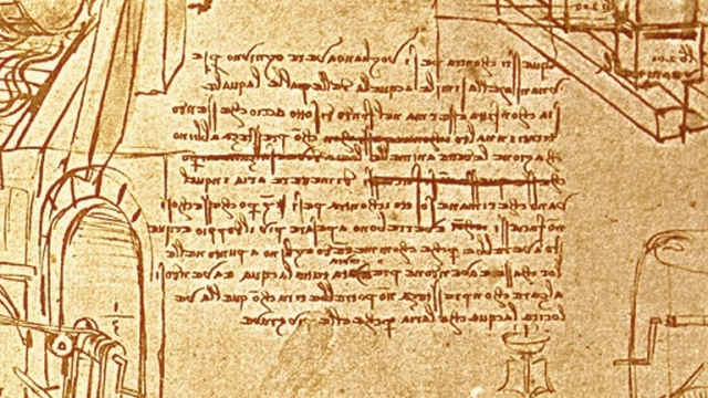 leonardo-writing