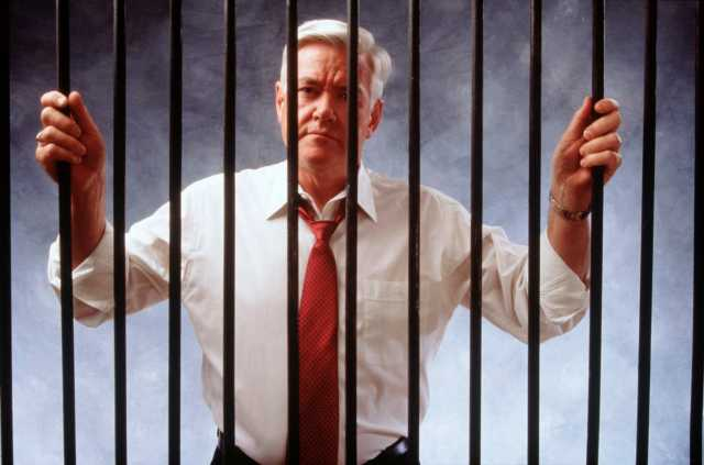 White Collar Criminal behind Bars